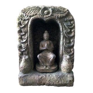 Caved Praying Buddha Statue