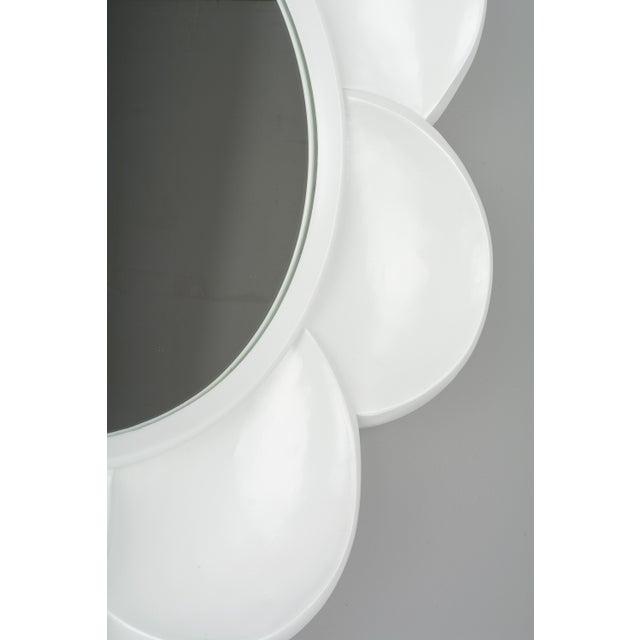 Wood Mid Century Modern Pop Art Flower Mirror For Sale - Image 7 of 9