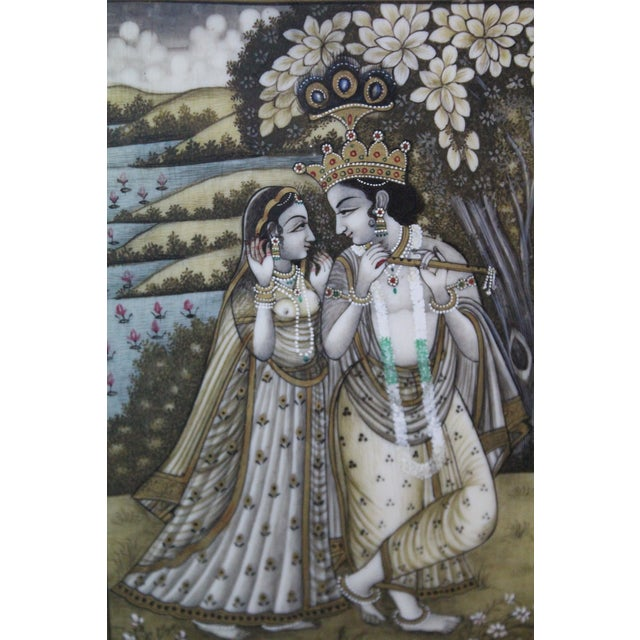 Persian Man and Woman Porcelain Panel Painting For Sale In New York - Image 6 of 7