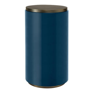 Cigarette Table in Indigo Blue - Veere Grenney for The Lacquer Company For Sale