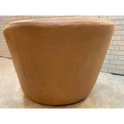 Mid Century Modern Vladimir Kagan Cloud Sofa and Nautilus Swivel Lounge Chair - 2 Piece Set For Sale - Image 10 of 11