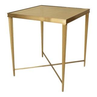 Louis XVI Bronze Églomisé Glass End Table For Sale