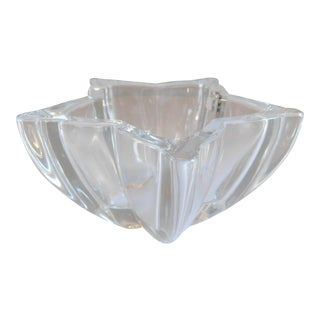 Wmf Germany Vintage Crystal Nut, Ring, Candy Dish For Sale