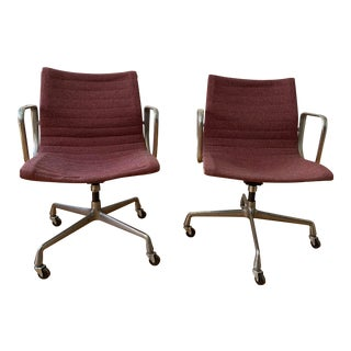 Mid Century Modern Herman Miller Eames Management Office Arm Chairs - a Pair For Sale