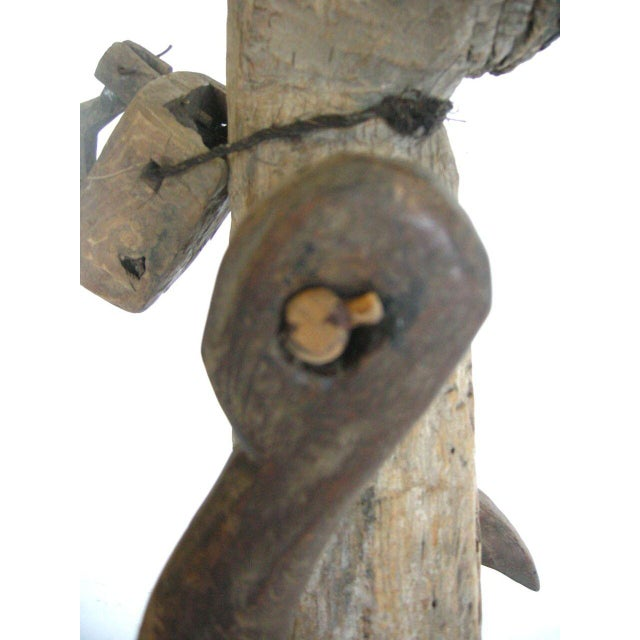 Antique Wood Balinese Scarecrow - Image 9 of 10