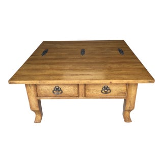 Bausman & Co. Square Coffee Table For Sale