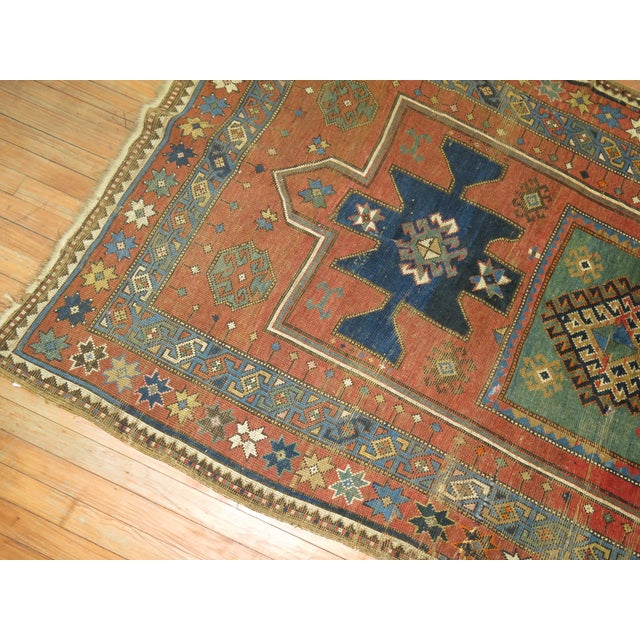 Antique Caucasian Rug, 4'6'' x 8' For Sale - Image 4 of 11