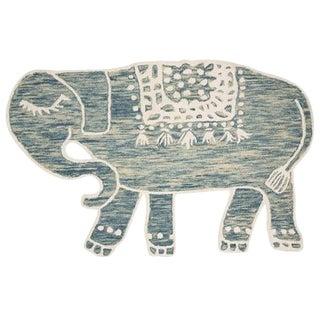 Blue Animal Skin Design Collection Rug - 4′ × 6′ For Sale