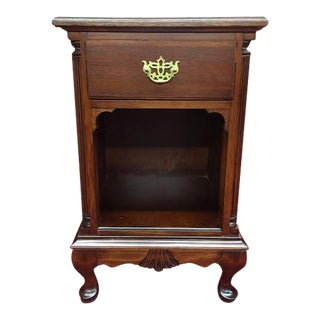 1950s Mahogany One Drawer Nightstand For Sale
