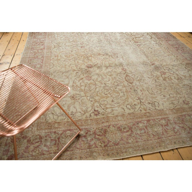 "Shabby Chic Vintage Distressed Sivas Carpet - 8' x 10'10"" For Sale - Image 3 of 11"