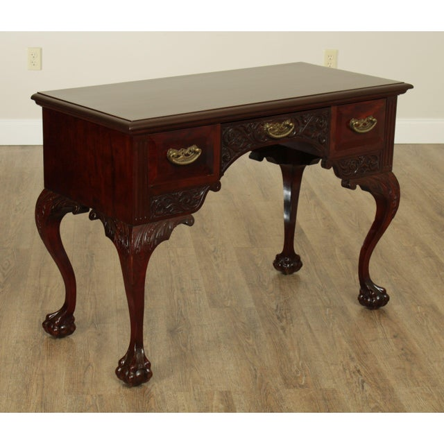 Chippendale Victorian Era Chippendale Style Antique Carved Ball & Claw Vanity For Sale - Image 3 of 13