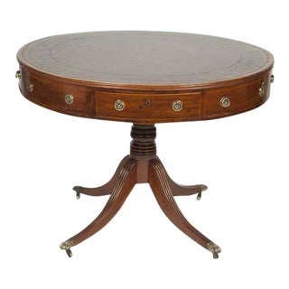Regency Mahogany Drum Table For Sale