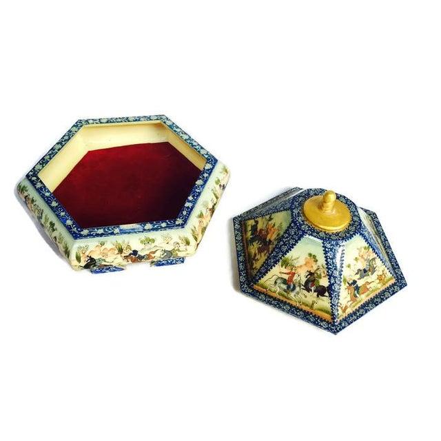 Vintage Persian Ornate Bone Trinket Box - Image 6 of 6