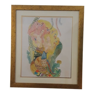 Early 20th Century Antique Gustav Klimt Watercolor Painting For Sale