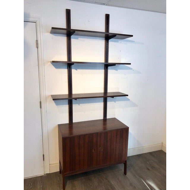 Danish Modern Rosewood Adjustable Shelves For Sale - Image 4 of 12