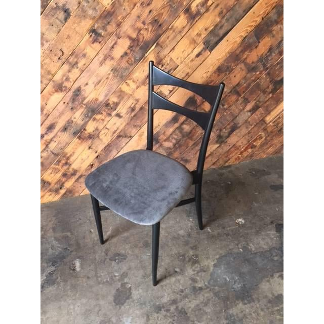 Mid-Century Gio Ponti Style Ladder Back Chairs - Set of 4 - Image 4 of 6