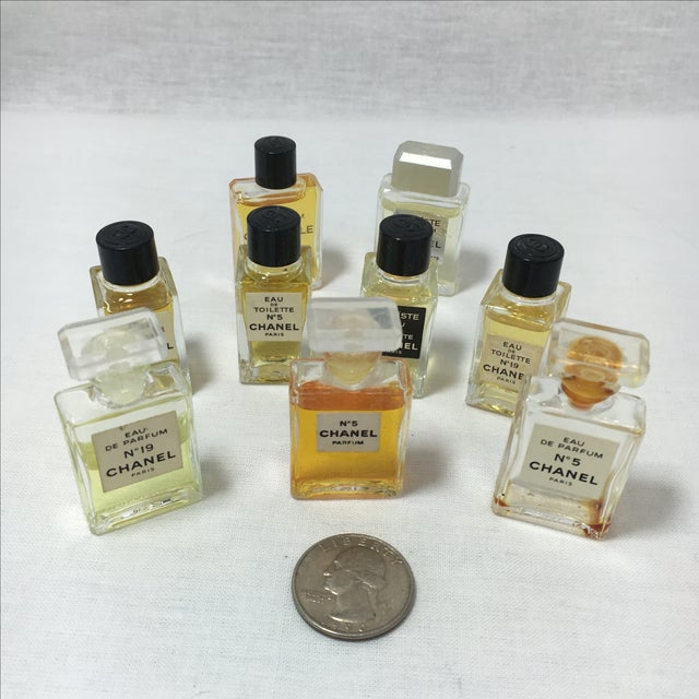 Vintage Collection of Mini Chanel Perfumes - Set of 9 For Sale In Austin - Image 6 of 6
