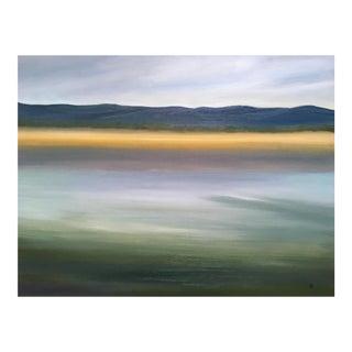 """Foggy Lake"" Oil Painting"
