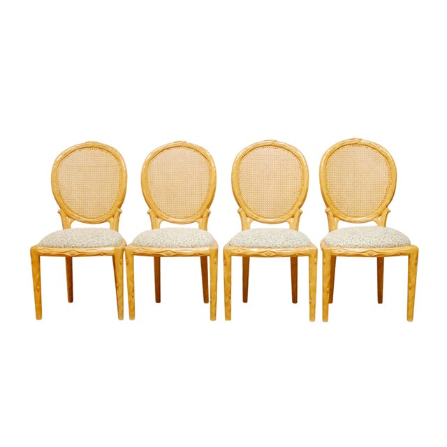 Vintage Italian Faux Bois Dining Chairs - Set of 4 - Image 1 of 8