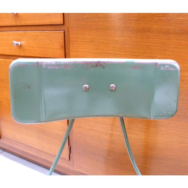 Industrial Metal Desk Chair For Sale In Miami - Image 6 of 10