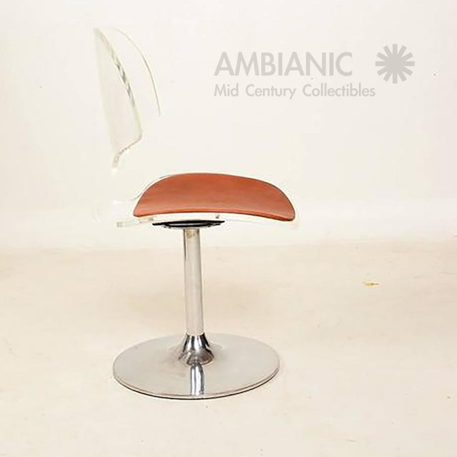 1970s Lucite Dining Chairs by Hill Company - Set of 4 For Sale - Image 5 of 10