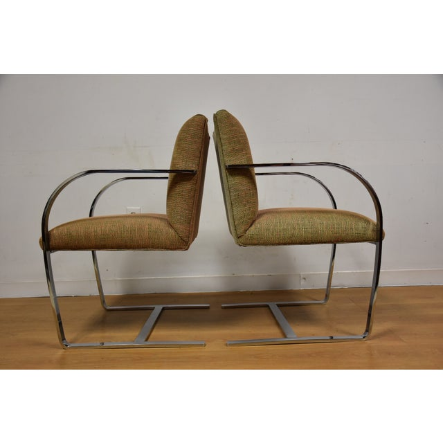 Cy Mann Chrome Flat Bar Lounge Chairs - a Pair - Image 5 of 9