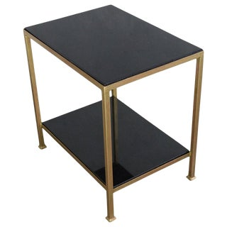 Marcelo End Table With Polished Granite For Sale