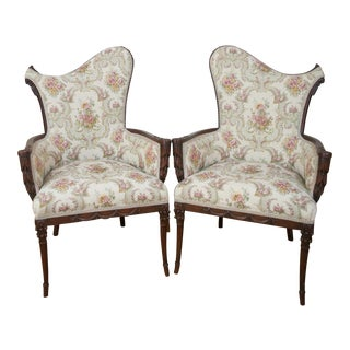 1920's Hollywood Accent Chairs - A Pair