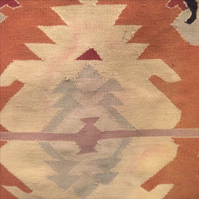 Neutral Tone Kilim Rug - 5′5″ × 8′ - Image 6 of 7