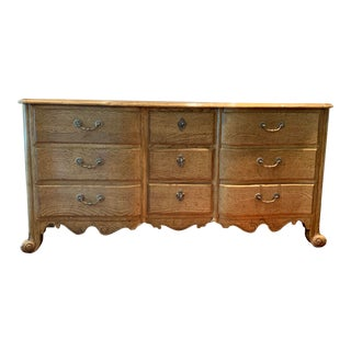 Vintage Baker Louis XV Style Oak Chest of Drawers For Sale