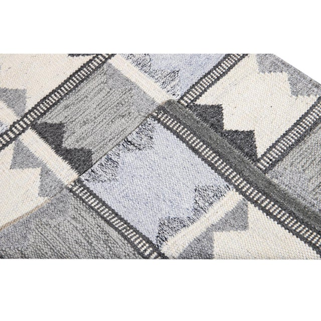 Early 21st Century 21st Century Contemporary Swedish Style Runner Rug, 3' X 12' For Sale - Image 5 of 11