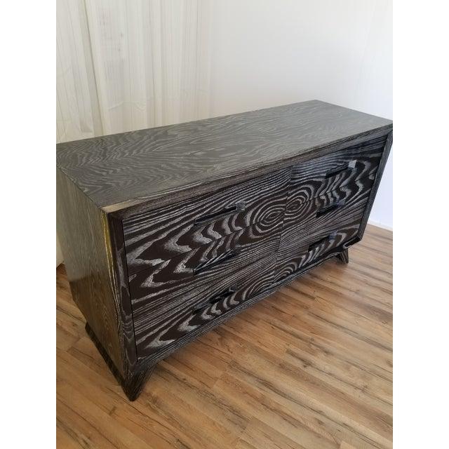 Black Mid Century Black Ceruse Dresser For Sale - Image 8 of 13