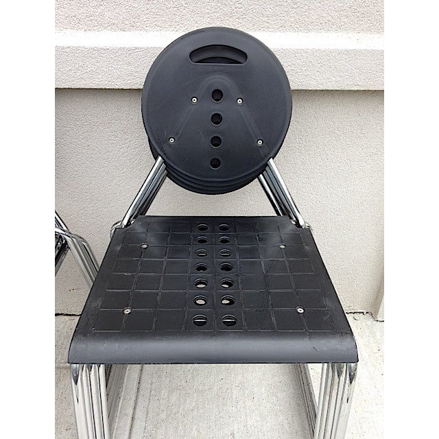 Bimbi Gioacchini Charlie Black Stacking Chair For Sale - Image 4 of 4