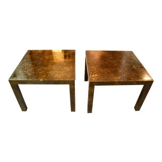 Midcentury 1960's Pair of End Tables Made by Lane For Sale