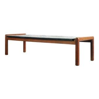 Adrian Pearsall Mid Century Modern Walnut/Slate Coffee Table Set For Sale