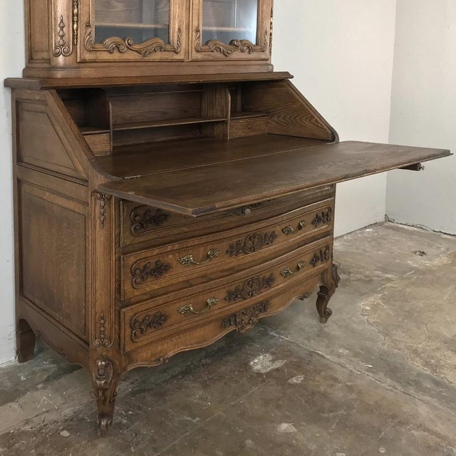Antique Country French Secretary ~ Bookcase For Sale In Dallas - Image 6 of 13