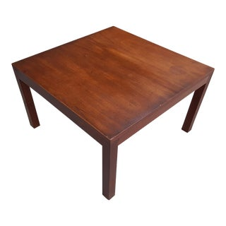 Mid-Century Modern Walnut Parsons Coffee Table For Sale