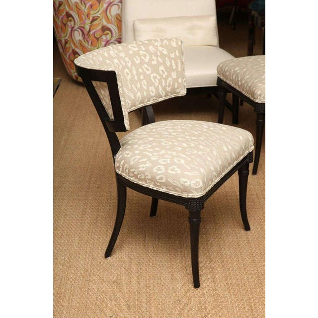 1940s Pair of Sculptural Hollywood Regency Grosfeld House Side Chairs For Sale - Image 5 of 10