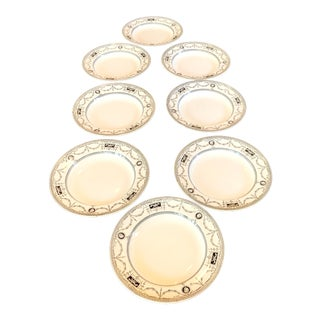 Late 19th Century Antique Mintons Alford Aesthetic Movement Plates / Low Bowls - Set of 8 For Sale