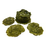 Image of Holland Ceramics Cabbage Soup Tureen With Sharable Plates - 4 Pieces For Sale