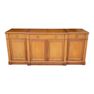 1970s Baker Furniture Cherry Wood Sideboard For Sale