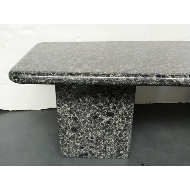 Stone Mid-Century Granite Coffee Table For Sale - Image 7 of 11