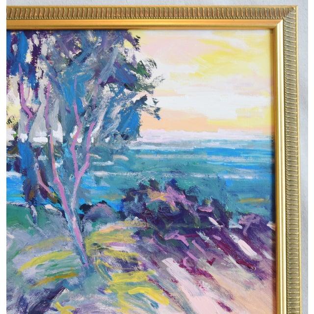 Late 20th Century Ventura California Original Juan Guzman Plein Air Landscape Seascape Painting For Sale - Image 5 of 9