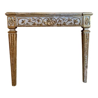 1950s French Marble Top Console Table For Sale