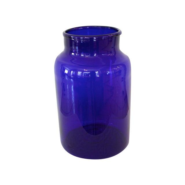 "European Cobalt Glass Pickling Jar 17"" - Image 1 of 5"