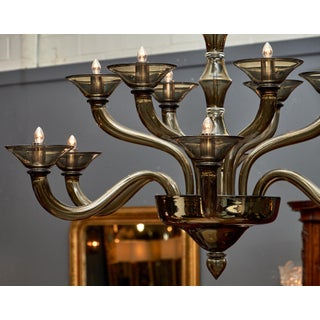 Murano Gray Mercury Glass Chandelier Preview