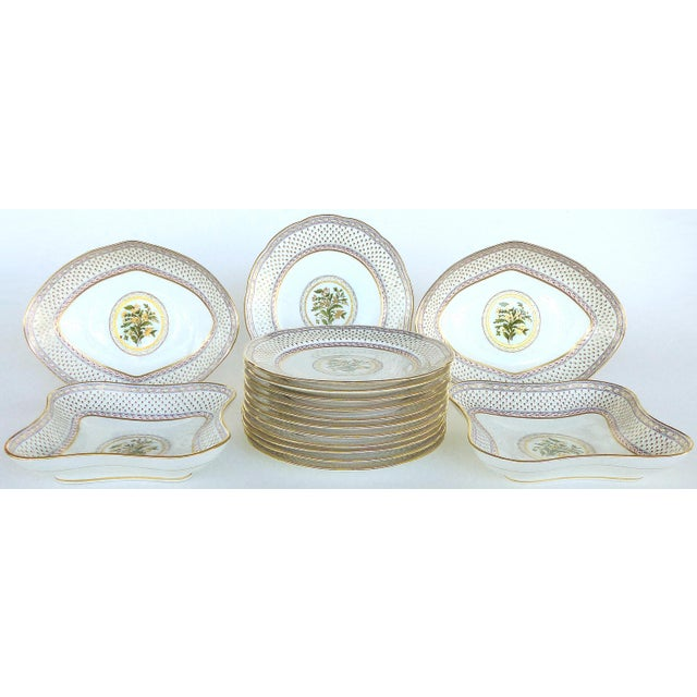 Cauldon England for Tomas Goode Fine China Luncheon/Dessert Service For Sale - Image 9 of 9