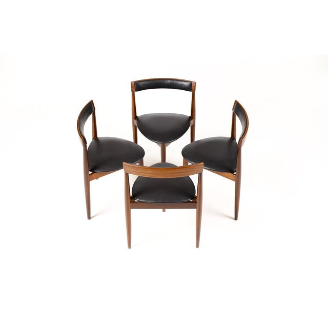 Hans Olsen for Frem Rojle Danish Modern / Mid Century African Teak Dining Chairs - Set of 4 For Sale - Image 11 of 11