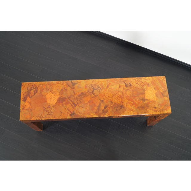 1970s Brutalist Copper Patchwork Console Table For Sale - Image 9 of 11