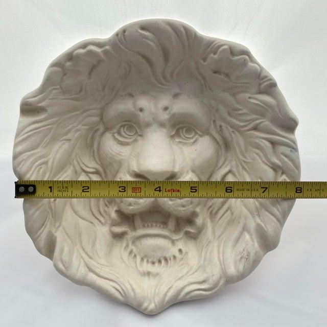 Haeger Lion Head Plate #2122 White Ecru Egg Shell Wall Art For Sale - Image 11 of 13